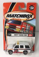 Matchbox Chevy Tahoe Die-cast SUV Fire Flame Eaters #28 Fire Department 2000 NOS