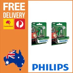 Philips H4 Globe Long Life Eco Vision H4 Bulb Headlight Globe 12342LLECOB1 x 2