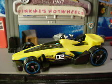 2017 Hot Wheels CARBIDE☆yellow/black;blue rim oh5☆Multi Pack Exclusive☆LOOSE
