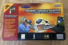 Belkin FireWire Cardbus Notebook Adapter - interface Adaptor - With CD Software