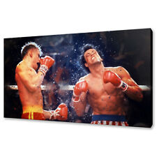 ROCKY IV SYLVESTER STALLONE CANVAS PICTURE PRINT CONCEPT WALL ART