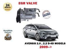 pour Toyota Avensis 2.0DT 2.2DT D4D 2009> NEUF ADMISSION EGR Valve 25800-0r010