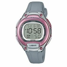 Casio Women's Gray Resin Watch, Alarm, 50 Meter WR, Alarm, LW203-8AV