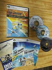 Microsoft Flight Simulator X: Gold Edition (PC: Windows, 2008)  FREE SHIPPING