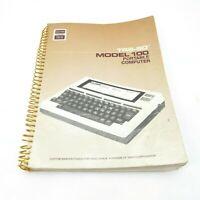 Radio Shack TRS-80 Model 100 Portable Computer Manual Spiral Guide