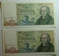 1977 Repubblica Italiana  5000  lire Colombo  II Tipo   Eccezionali  Asta Per  1