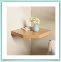 Floating Corner Shelves White , Black ,Wood Oak ,Effect contemporary style