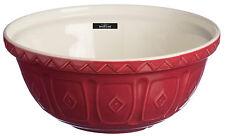 Mason Cash Extra Large Deep Red Burgundy Ceramic Mixing Bowl 29cm Depth 17cm