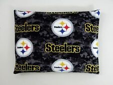 2-NFL PITTSBURGH STEELERS STANDARD PRINTED FLEECE CASES -BLACK FLEECE BACK