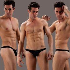 Men's Sexy Mesh G-string Thongs Underwear Black Breathable T-back for Men L