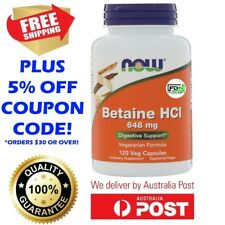 Now Foods Betaine HCl 648mg 120 Caps, Pepsin Digestive Support Enzymes Gut Flora