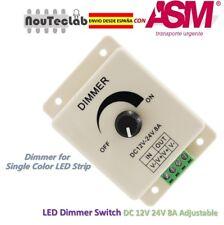 LED Dimmer DC 12V 24V 8A Light Bright Adjustable Single Color LED Controller