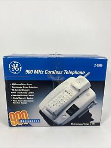 GE 900 MHz Cordless Phone White 2-9920 NEW OPEN BOX NOS 1998