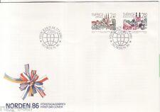 Schweden Nr. 1395-96  FDC  NORDEN Partnertsädte