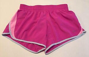 NIKE Dri Fit Girls XL Pink Shorts Athletic Running