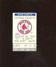 October 1 1983 Ticket Stub Boston Red Sox Carl Yastrzemski Day