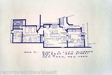 "I Love Lucy TV Show House Home,  623 E. 68th St Apt. 3D Blueprints 24"" X 36"""