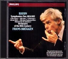 Frans BRÜGGEN: HAYDN Symphony No.101 & 103 BRUGGEN Philips CD Clock Drum Roll
