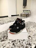 """Air Jordan Retro 4 """"Bred"""" Mens Size 9"""
