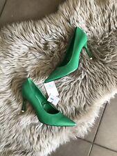 Zara Green High Heel Court Shoes UK4 EU37 US6.5 # 334