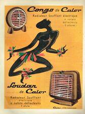 C- Publicité Advertising 1955 Le radiateur Soufflant Congo de Calor