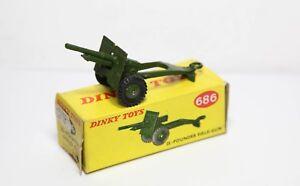 Dinky 686 25 - Pounder Field Gun In Original Box - Ex Shop Stock Mint 1950s