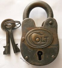 Old West Colt gun cabinet iron lock padlock #E114