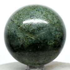 "2.2"" Nephrite Green Jade Sphere Sparkling Natural Jadeite Mineral - Afghanistan"