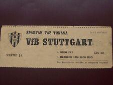 TICKET SPARTAK TRNAVA - VFB  STUTTGART 1/10/1986 C2