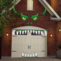 Halloween Monster Face Decorations - Outdoor Garage Archway Door Window Car Hall