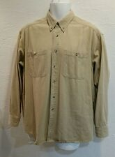 Fieldmaster Long sleeve button up mens shirt Large