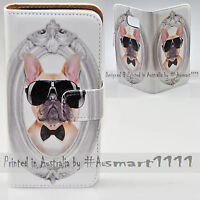 For OPPO Series - French Bulldog Portrait Print Wallet Mobile Phone Case Cover