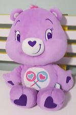 PURPLE SHARE BEAR CARE BEAR! SOFT TOY APPROX 35CM SEATED TEDDY BEAR! KIDS TOY!