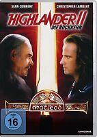 HIGHLANDER 2 II * DIE RÜCKKEHR Christopher Lambert SEAN CONNERY DVD Neu