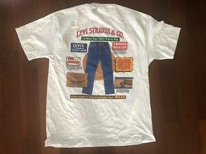 VINTAGE DEADSTOCK LEVI STRAUSS & CO T SHIRT L 90S USA COWBOY WESTERN NOS LEVI'S