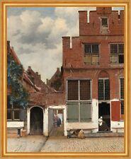 The Little Street Jan Vermeer Backsteinhaus Stadt Häuser Rot Ziegel B A2 02468