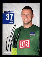 Philip Sprint Autogrammkarte Hertha BSC Berlin 2012-13 Original Sign+A 162193