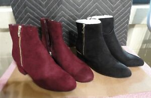 WOMENS LIZ CLAIBORNE GOLDIE BOOTIES MULTIPLE COLORS AND SIZES NEW IN BOX MSRP$89