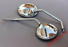 Dnepr Ural New Pair Chrome Mirrors Metal Factory Items