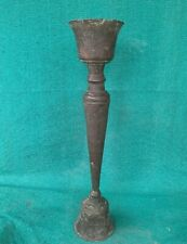 19Th C Antique Old Brass HandCrafted Collectible Victorian Table Candle Stand