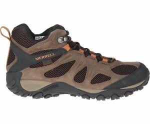 Merrell Men's Yokota 2 Mid Waterproof Hiking Boots, Bracken J77375 - Choose Size