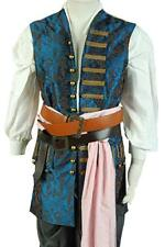 Pirates of The Caribbean 4 Captain Jack Sparrow Cosplay Costume Embroidered Vest