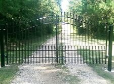 "Custom Built ""Wrought Iron Style"" Driveway Entry Gate 12 Ft Wd Ds. Residential"