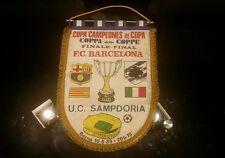 BANDERIN PENNANT FCB BARCELONA / SAMPDORIA 1989
