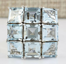 20.05 Carat Natural Aquamarine 14K White Gold Ring