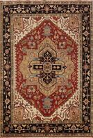 Hand-knotted Indo Heriz Oriental Geometric Home Decor Area Rug Wool Carpet 8x10