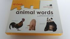 """Animal Words"" Early Learning by SpiceBox Complete. One sealed package."