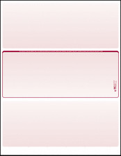 Blank Check Paper Stock-Check in Middle Burgundy Count/100