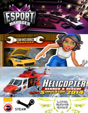 Car Mechanic Manager + ESport Manager +Helicopter Simulator PC Digital STEAM KEY