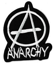 Ecusson patche Anarchie Anarchy blanc anarchiste thermocollant patch revolution